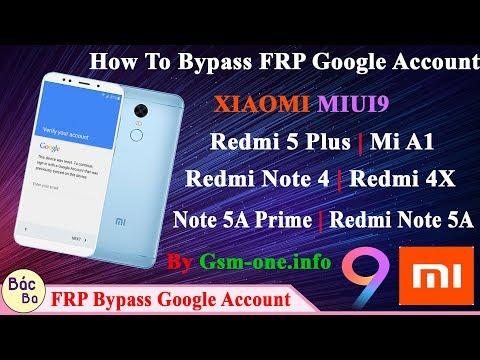 How To Bypass FRP Google Account XIAOMI MIUI9