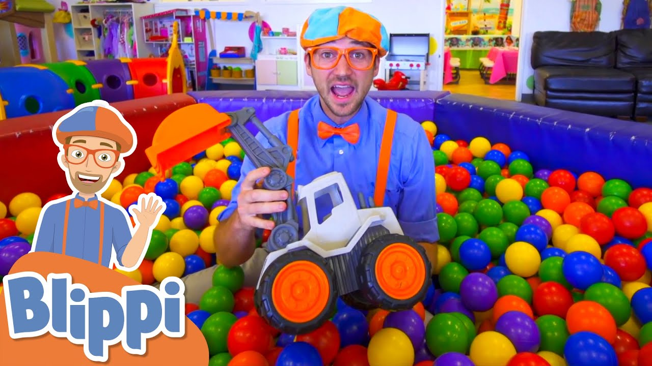 Blippi at the Indoor Plaground! | Learn With Blippi | Educational Videos For Kids