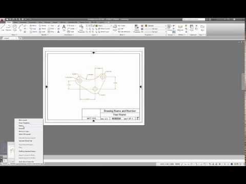 AutoCAD 2015  Using a Titleblock Template and Creating  PDF Printouts  of Layouts