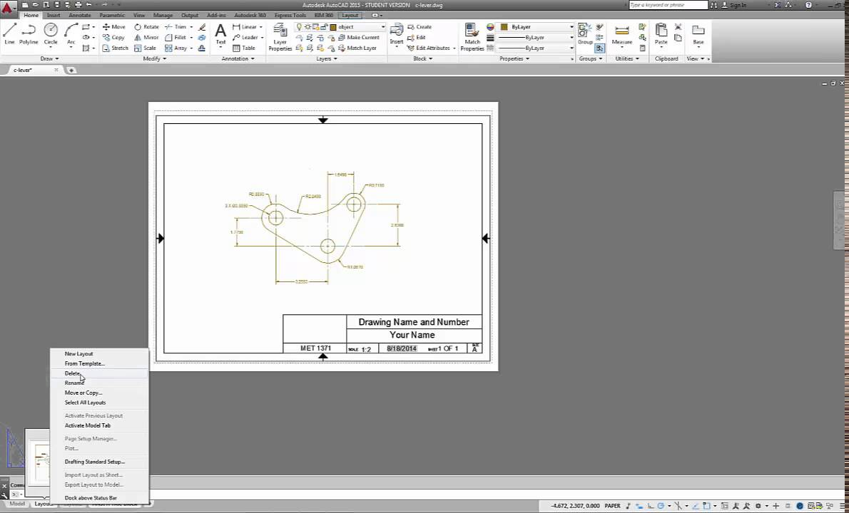 autocad templates free dwg - autocad 2015 using a titleblock template and creating pdf