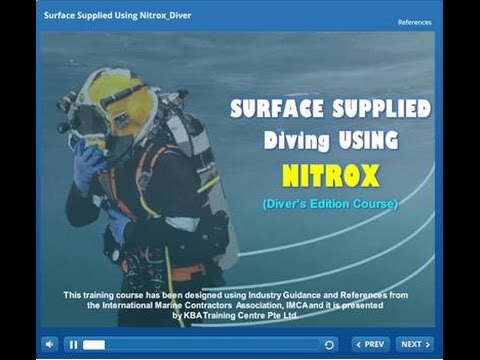 Surface Supplied Diving using NITROX - eLearning [What's in it]