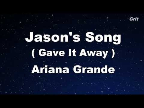 Jason's Song - Ariana Grande Karaoke 【No Guide Melody】 Instrumental