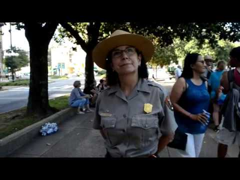 Hot Springs National Park Superintendent Josie Fernandez at Confederate Rally