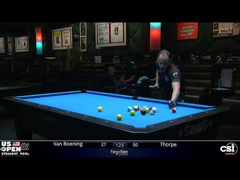 STRAIGHT POOL: Shane Van Boening Vs Billy Thorpe | 2019 US Open Straight Pool Championship