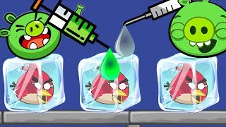 unfreeze Angry Birds - DRAWING WATER WAY TO BREAK ICE RESCUE ANGRY BIRDS!!