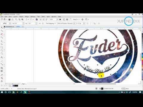 tutorial membuat logo keren di CorelDraw x8