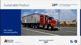 OPALON préfabriqués Gréement forage Camp mobile Container TRON