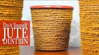 DIY Upscale your Home; (Jute Dustbin) :DIYIndian | DIY Rope Basket | DIY Rope Dustbin