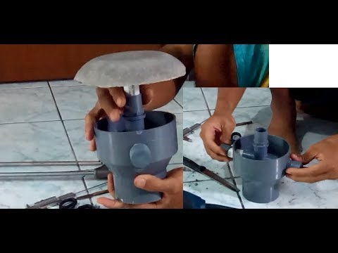 Diy bottom drain dokumentasi kolam koi youtube for Koi pond rock bottom