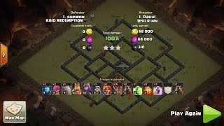 TH10 annihilated by TH9 --- 3 STARS Hybrid Laloon attack on Town Hall 10(TH 9.5) ||CLASH OF CLANS