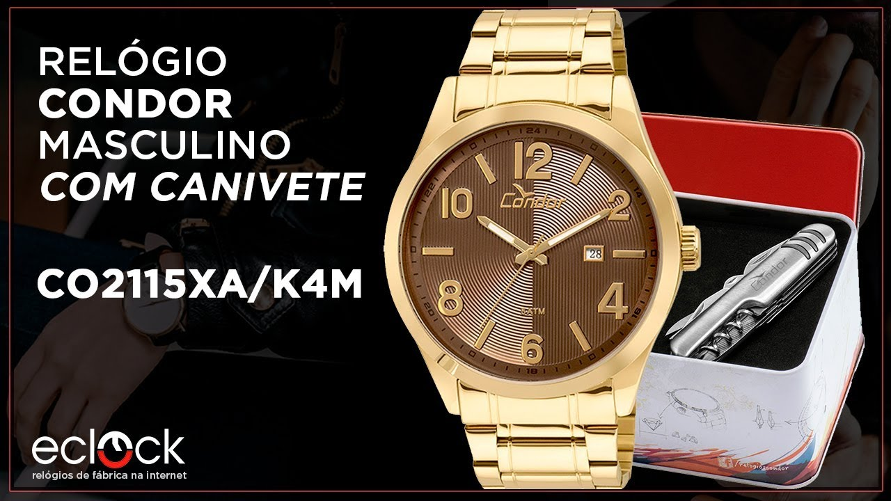 8c91e481722 Kit Relógio Condor Masculino com Canivete CO2115XA K4M - Eclock ...