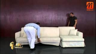 Угловой диван аккордеон купить Киев, цена, недорого, Odessa & Ginerva(Эксперт итальянской мебели компания