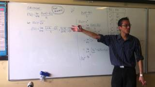 first principles example square root of x