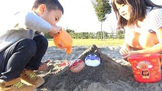 アンパンマン 砂遊び!水遊び! 砂場セット おもちゃ Anpanman Sand set Toy