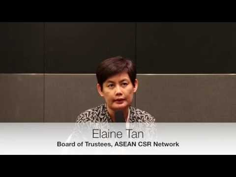 with Elaine Tan,  Board of Trustees, ASEAN CSR Network