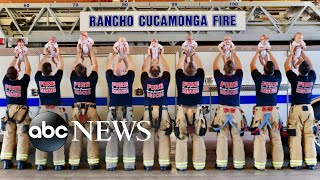 Firefighters in Southern California introduce new bundles of joy