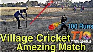 Amezing Cricket Match In Village Field.