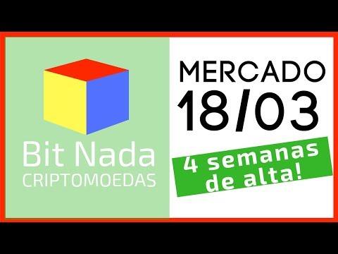 Mercado de Cripto! 18/03 4 SEMANAS SEGUIDAS DE ALTA NO BITCOIN!!
