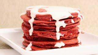 Red Velvet Pancakes Recipe - Laura Vitale - Laura In The Kitchen Episode 876