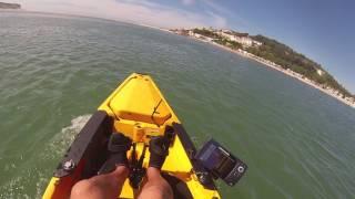 mike peche en kayak PORTUGAL 2016 test moteur thermique
