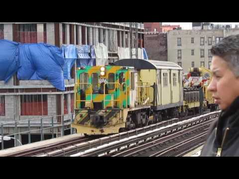 woodlawn/Manhattan bound 4 trains at 161st yankee stadium + MOW work train hauling to woodlawn yard