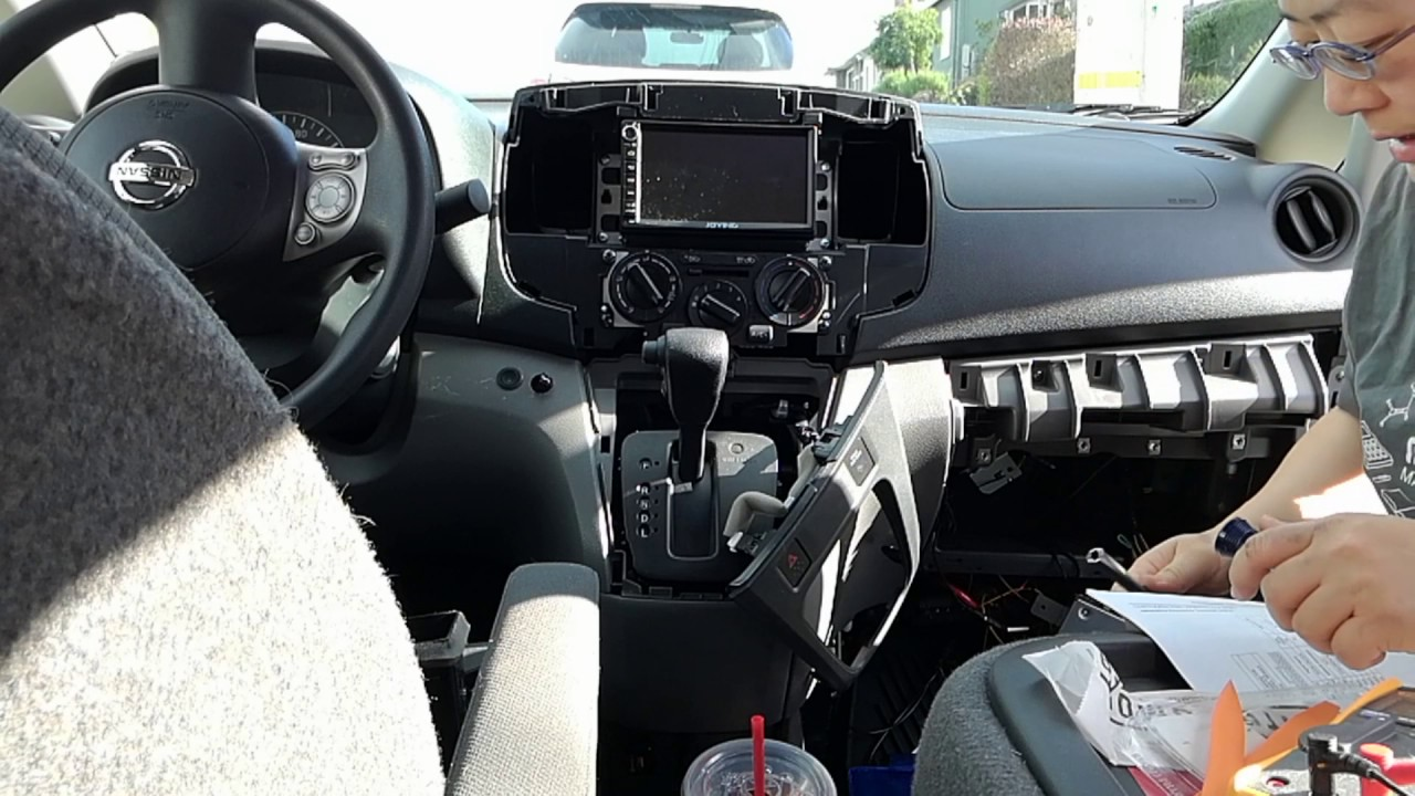 nissan nv200 radio head unit installation youtube rh youtube com nissan nv200 radio wiring diagram Nissan Frontier Wiring-Diagram