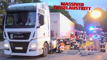[LKW-TANK AUFGERISSEN: MASSIVER DIESELAUSTRITT]- Tank umgepumpt | A3 Rastplatz gesperrt | Langenfeld