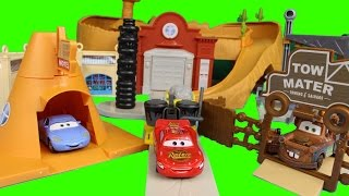 Disney Pixar Cars Radiator Springs World with Lightning Mcqueen Mater Sally Luigi Guido