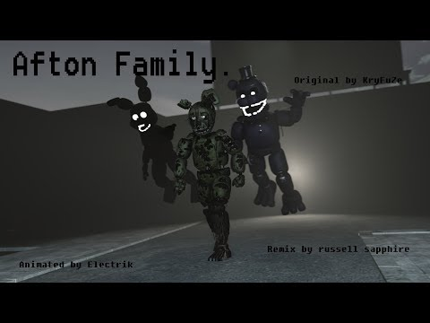 [SFM FNAF] The Afton family remix by Russell sapphire. Read description