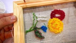 Краткий урок Вышивки Ковров   Часть 2  Процесс вышивки