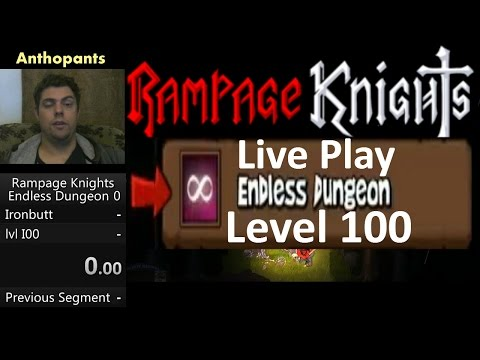 Rampage Knights Endless Dungeon Live Playthrough to level 100