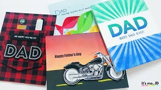 4 EASY IDEAS FOR HANDMADE FATHER'S DAY CARDS | Tutorial on DIY Cards for Dad