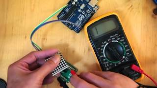 Identify pin 1 of Row Cathode Column Anode 8x8 LED Matrix (1088AS)
