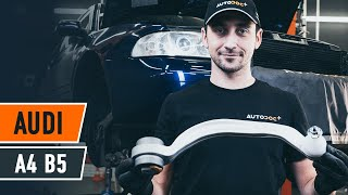 rear and front Wishbone installation AUDI A4: video manual