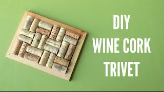 Diy Wine Cork Trivet (pot Holder)
