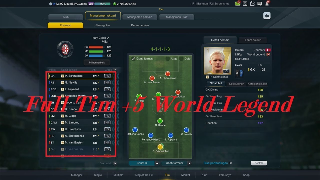 Fifa Online 3 Indonesia Cek Pemain 5 World Legend Youtube