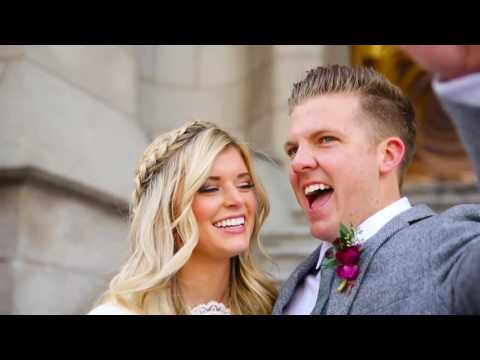 Mormon Wedding /Salt Lake Temple /  Markie + Michael Nakken