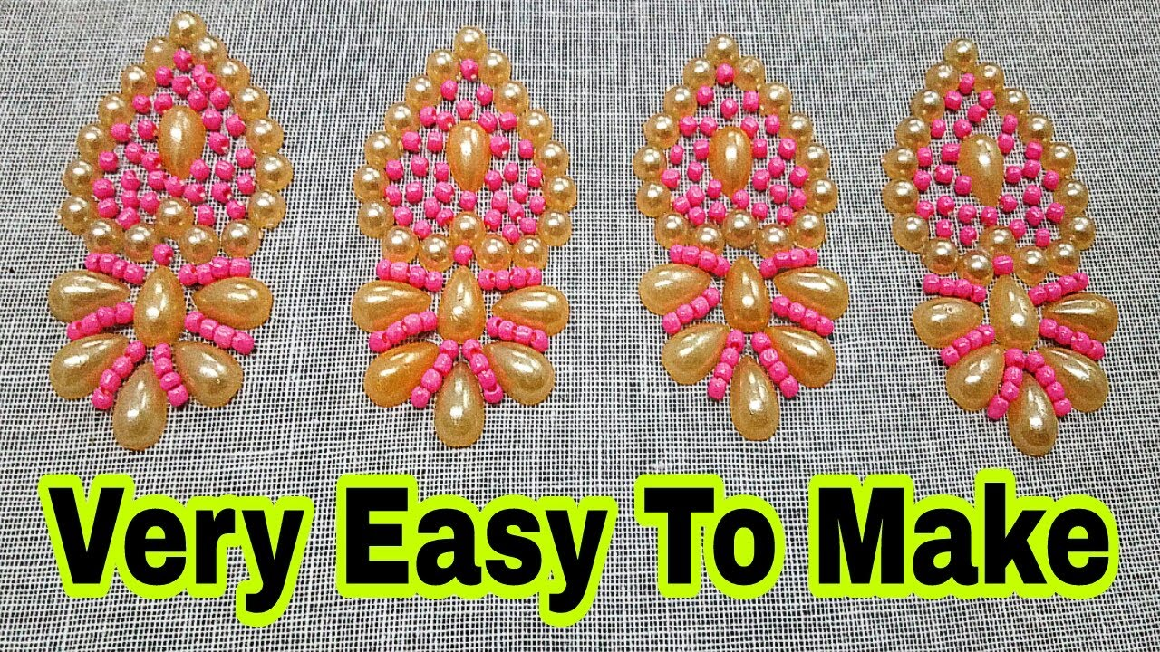 Hand Embroidery Kundan Work And Beads Embroidery Work Border