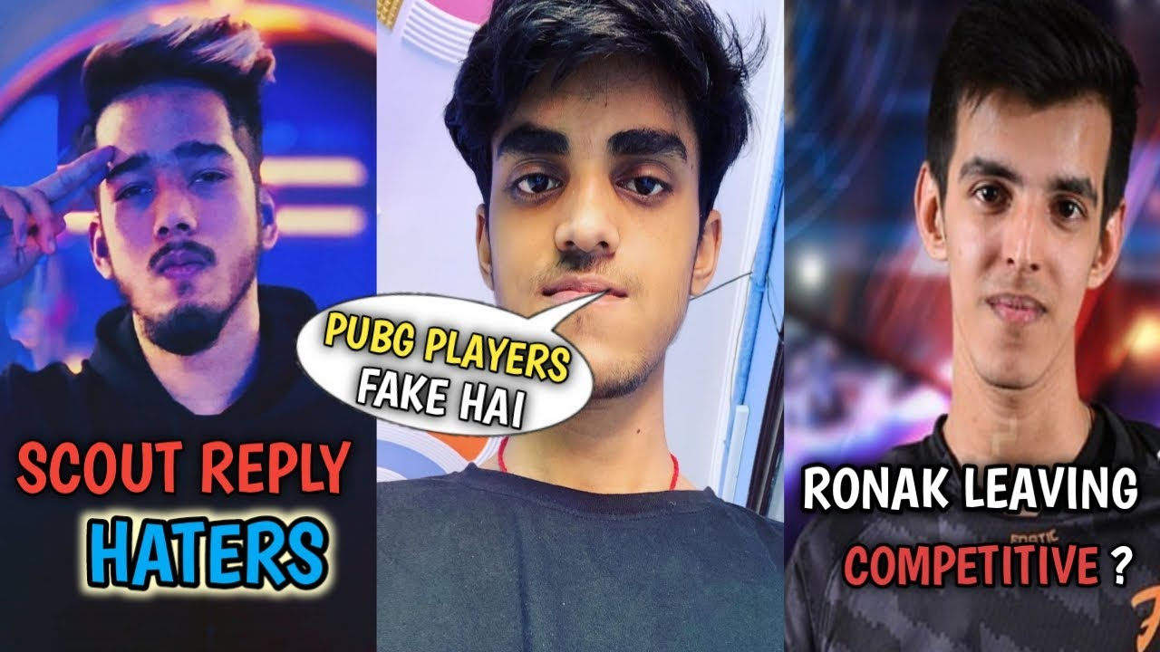 Scout Reply To Haters | Maxtern Expose Fake Pubg Players | Ronak Leaving Competitive