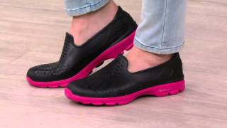 Sin valor Barrio bajo Respecto a  Skechers H2GO Perforated Slip-on Shoes on QVC - YouTube