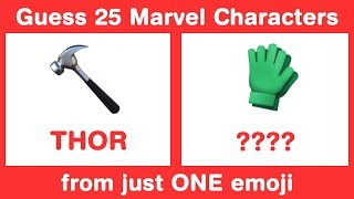 Guess 25 Marvel Characters from 1 Emoji in 3 sec each - Avengers Emoji Challenge
