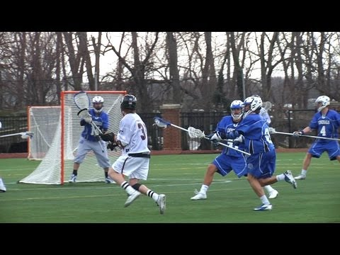 WAC Lacrosse player scores from his knees | College Lacrosse Highlights