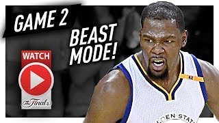 kevin durant full game 2 highlights vs cavaliers 2017 finals 33 pts 13 reb beast mode