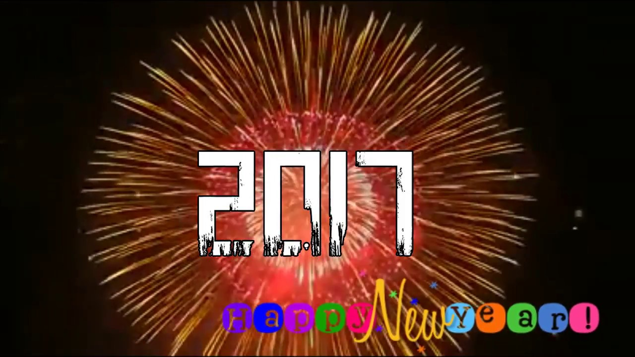 Happy New Year 2017 Animated & Whatsapp Share Free Video - YouTube