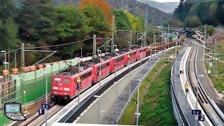 Heigenbrücken [neuer Bhf.] mit ICEs, MSP-RE +BR 111 & 146, Hectorrail, BR 151 x5, ELL, retrack, ...