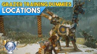 Horizon Zero Dawn All Grazer Training Dummy Locations (Trophy Guide)