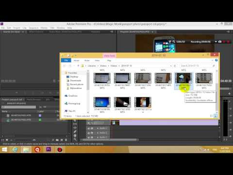 Premiere pro CS5 CS6 MTS file no sound Fix