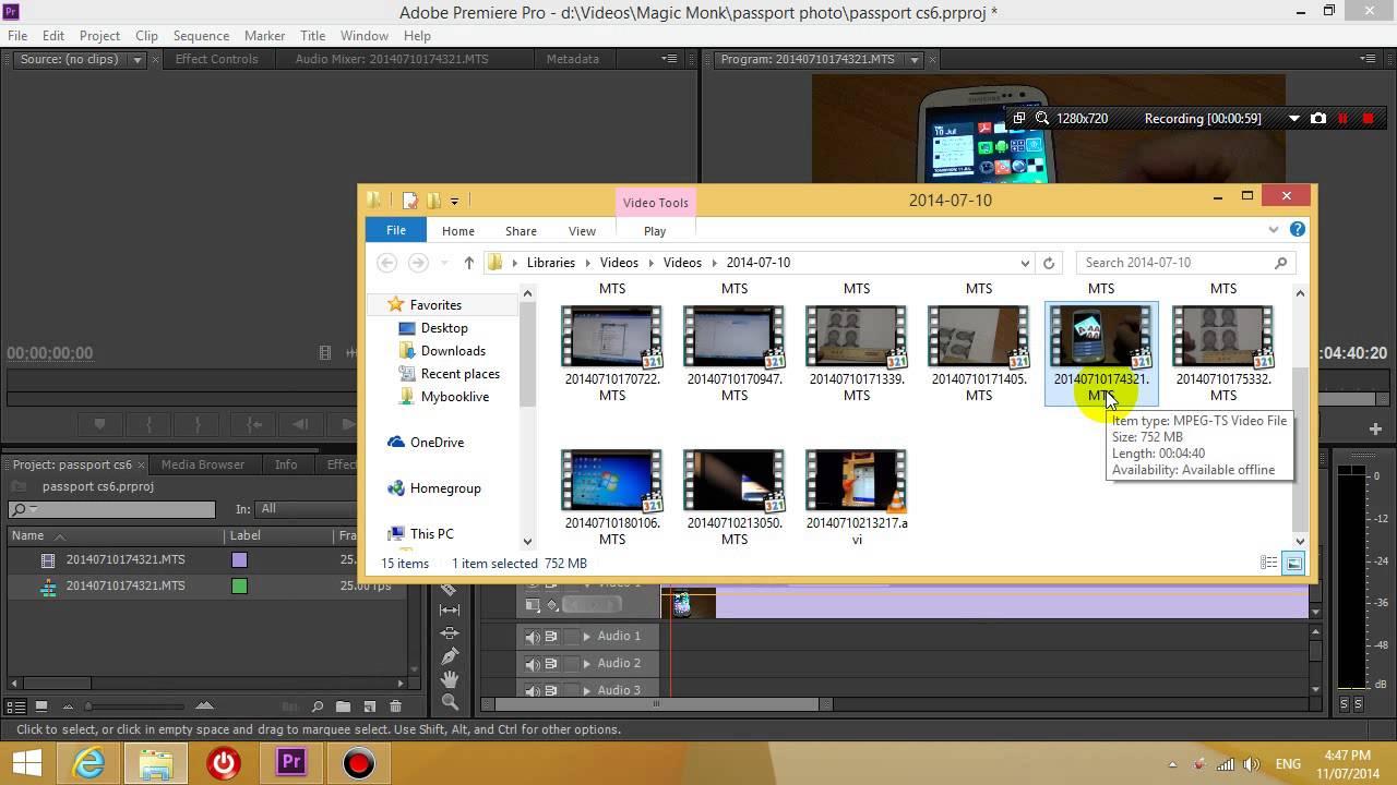 Premiere Pro Cs5 Cs6 Mts File No Sound Fix Youtube