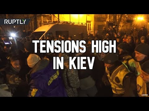 Tensions high as Zelensky left Kiev for Normandy Four, with protesters demanding he shows strength