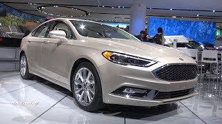 2018 Ford Fusion Platinum - Exterior And Interior Walkaround - 2018 Detroit Auto Show
